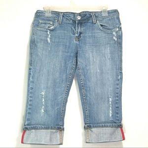 Vigoss | Distressed Capri Jeans Size: 5